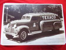 1940 DODGE TRUCK  TEXACO TANKER   11 X 17  PHOTO   PICTURE