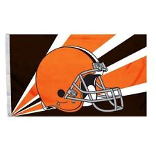 Cleveland Browns 3'x5' Deluxe Flag *Brand New* Helmet Banner