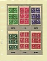 ORLEY STAMPS US Definitive/Regular Issue Booklet Pane Lot of 23 SEE BELOW MNH