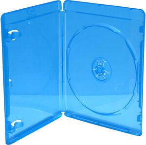 10 MediaRange Blu-ray Hüllen 11mm für 1 Disk BD-R Case Box Leer Hülle