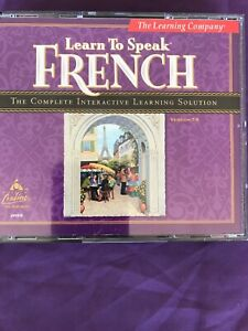 The Learning Company Learn To Speak French  Windows CD Rom