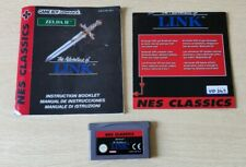 ZELDA 2 THE ADVENTURE OF LINK NINTENDO NES CLASSICS GAMEBOY ADVANCE GBA + MANUAL