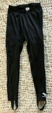 Bellwether Womens Black Cycling Pants Stirrups Biking Small Tights Athletic