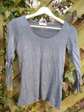 ENNA Leinen Shirt Größe 34 schiefer dunkelblau-grau Knöpfe waschbär vivanda öko