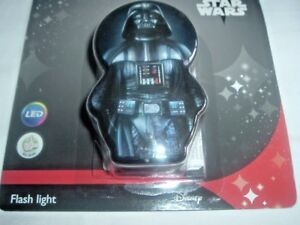 STAR WARS FLASH LIGHT and Night Light by Philips, DARTH VADER BLACK/WHITE (NEW)