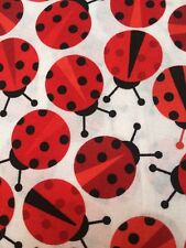 Red FQ Fat Quarter Fabric Ladybug Robert Kaufman 100% Cotton Quilting