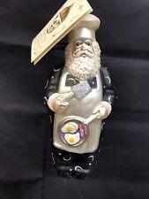 Patricia Breen Chef Santa Glass Ornament with tag