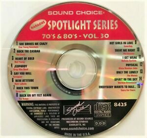 SOUND CHOICE KARAOKE SPOTLIGHT CD+G - 8425 - 70S AND 80S - VOL 30 - CDG