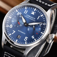 Corgeut Sapphire Glass 42mm Men Automatic Watch Power Reserve Blue Wristwatches