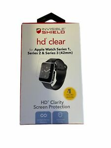 Invisible Shield HD Clear Screen Protector Apple Watch Series 1, 2, 3
