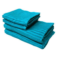 Pack of 4 - 100% Cotton Petril Peacock 2 x Bath Towels + 2 x Hand Towels
