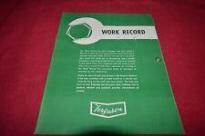 Ferguson Tractor Work Record Manual GDSD8