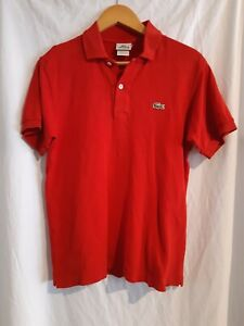 Lacoste Mens Red Polo Shirt Size 3