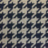 "54"" Wide Drapery Upholstery Houndstooth Chenille Fabric Navy By the Yard"