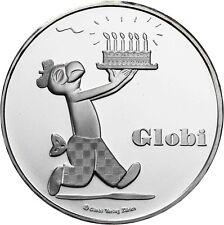 Schweiz 20 Franken 2012 Globi Stempelglanz Silbermünze Robert Lips