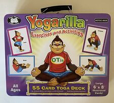Yogarilla Exercises and Activities 55 Card Yoga Deck COMPLETE w/ Metal Tin