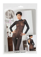 Mandy Mystery Lingerie Medium/large Catsuit con Colletto in Pizzo