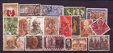 Indian-18 Diff. Used Good Condition Stamps Complete Year Pack of 1971 #IU71