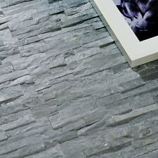 Cut down sample of Somerset green slate sparkle split face wall cladding