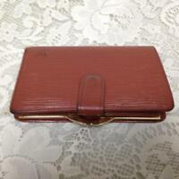 Authentic, Louis Vuitton, Brown Epi Leather Wallet-Coin Purse 5.25in x 3.5in