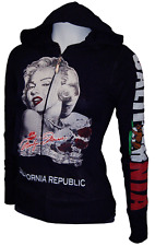 New Marilyn Monroe California Republic Zip-Up Hoodie Sweater JUNIOR PLUS 1XL
