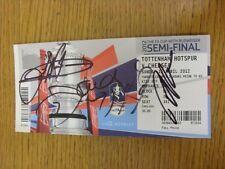 15/04/2012 Autographed Ticket: FA Cup Final Semi-Final, Tottenham Hotspur v Chel