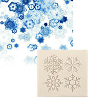 Christmas Snowflake Silicone Fondant Handmade Chocolate Candy Cake Decoration LI
