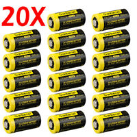 Garberiel CR123A 123A DL123 EL123 3 Volt Lithium Batteries For Camera (20 Pack)