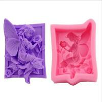 3D Silicone Fairy Elf Mold DIY Cake Mould Chocolate Fondant Decorating Tools DB