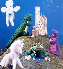 Once Upon a Myth Unicorn Dragon Pegasus Crochet Pattern Book Betty Saxton - 1988