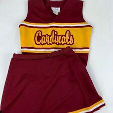"Cardinals Cheerleader Uniform Outfit Costume 34"" Top 28"" Elastic Stretch Skirt"