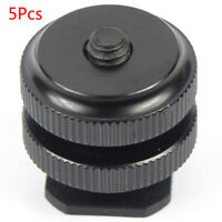"5Pcs 1/4"" Hot Cold Shoe Mount Tripod Screw To Flash Hot Shoe Adapter For DSLR"