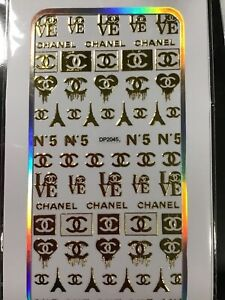 158.    Nail Art Stickers decal design Adhesive  DIY Decoration