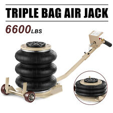 Portable 3 Ton Lifts Triple Stage Bag Air Go Jack frame Alignment Car Truck Shop