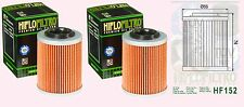 2x HF152 Oil Filter Can Am ATV 400 450 500 570 650 800 1000 Outlander & Renegade