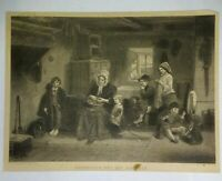 Conquered But Not Subdued Engraving Illman Brothers Oct 1872 Thomas Faed