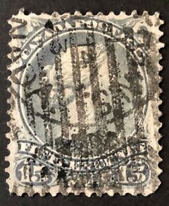 CANADA 1868 # 30 - QUEEN VICTORIA 'LARGE QUEEN' ISSUE 15 cent GREY USED