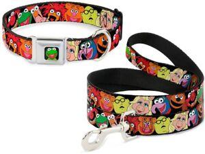 Buckle Down Seatbelt Dog Collar or Leash Muppets Animal Kermit Fozzie Piggy USA