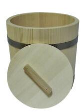 Wooden Bucket barrel with lid 5l liter old style sauna sauerkraut storage