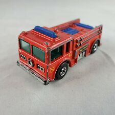HOT WHEELS Fire Eater Red Diecast Truck - Rescue Fire Engine (1982, Malaysia)