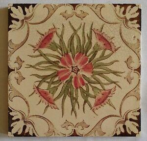 Antique English Floral Tiles.