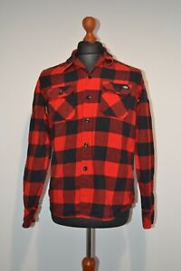 Dickies Portland Shirt Lumberjack Check Work Jacket Red Size S (SMALL)