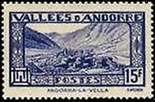 """ANDORRE FRANCAIS STAMP YVERT N° 91 """" ANDORRE - LA - VIEILLE 15F """" NEUF x TB"""