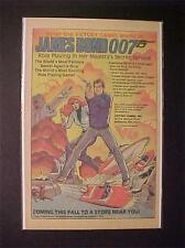 ~VICTORY TOY GAMES JAMES BOND 007 SPY ROLE GAME ART PRINT AD~ ORIG  VINTAGE