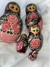 Vintage Russian Nesting Dolls Signed By Artist 5