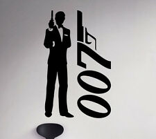 James Bond 007 Wall Decal Film Actor Vinyl Sticker Removable Art Decor 66(nse)
