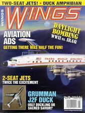 WINGS V33 N4 WW2 US NAVY USCG GRUMMAN J2F DUCK_CLASSIC AIRLINER ADS_TWO-SEATERS
