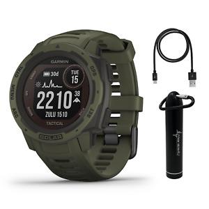 Garmin Instinct Solar Premium GPS Smartwatch with Included Wearable4U Bundle