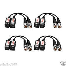 4 coppie CCTV Passivo Video Balun baluns spina BNC a UTP cat5 per fotocamera/DVR