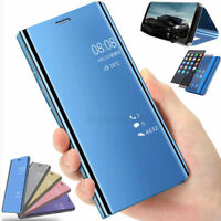 Clear Mirror View Flip Leather Case Cover for Huawei P8/P9/P10/P20 Lite P Smart